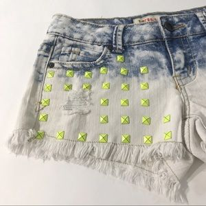 1st Kiss Juniors Denim Shorts 3 White Distressed